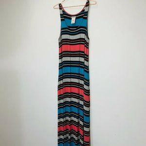 Merona Colorful striped long Maxi Sleeveless dress